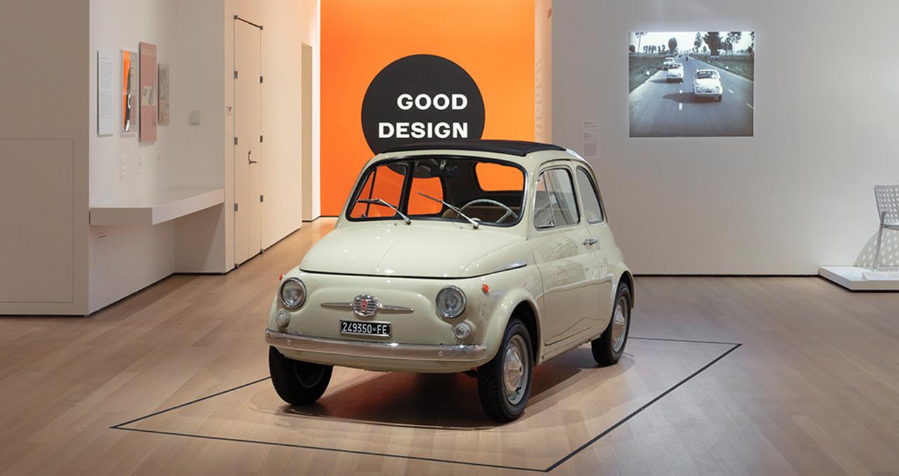 Fiat 500 Série F em exposição no MoMA New York